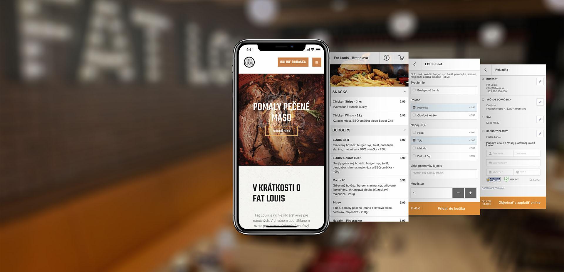 Online system na donášku jedla